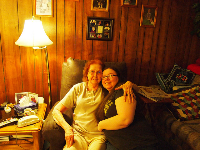 Grandma Jewell and me, Tahlequah, OK January 2011