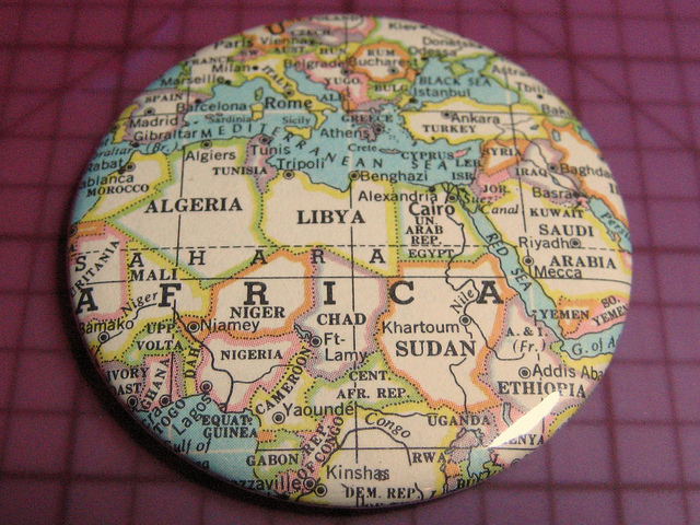 North Africa map magnet